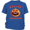 NFL – Halloween Pumpkin Dallas Cowboys Football NFL Shirts-T-shirt-District Youth Shirt-Royal Blue-XS-Itees Global