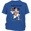 NFL – Denver Broncos Mickey Mouse Super Bowl Football Shirt-T-shirt-District Youth Shirt-Royal Blue-XS-Itees Global
