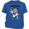 NFL – Funny Dallas Cowboys Mickey Mouse Super Bowl Football TShirt-T-shirt-District Youth Shirt-Royal Blue-XS-PopsSpot