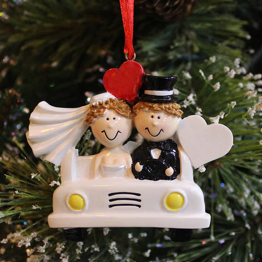 Wedding Of Couple Christmas Ornament#61356