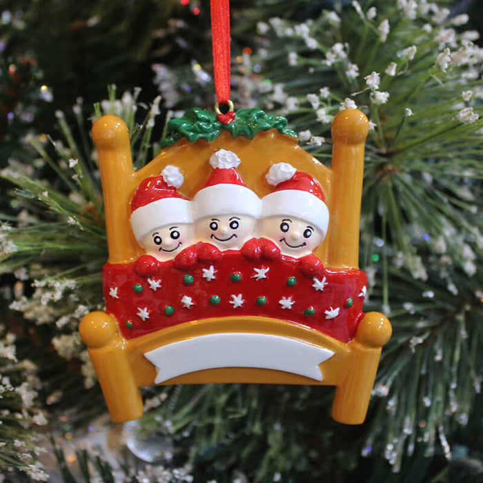 Baby's Bed Of Family Christmas Ornament #61417