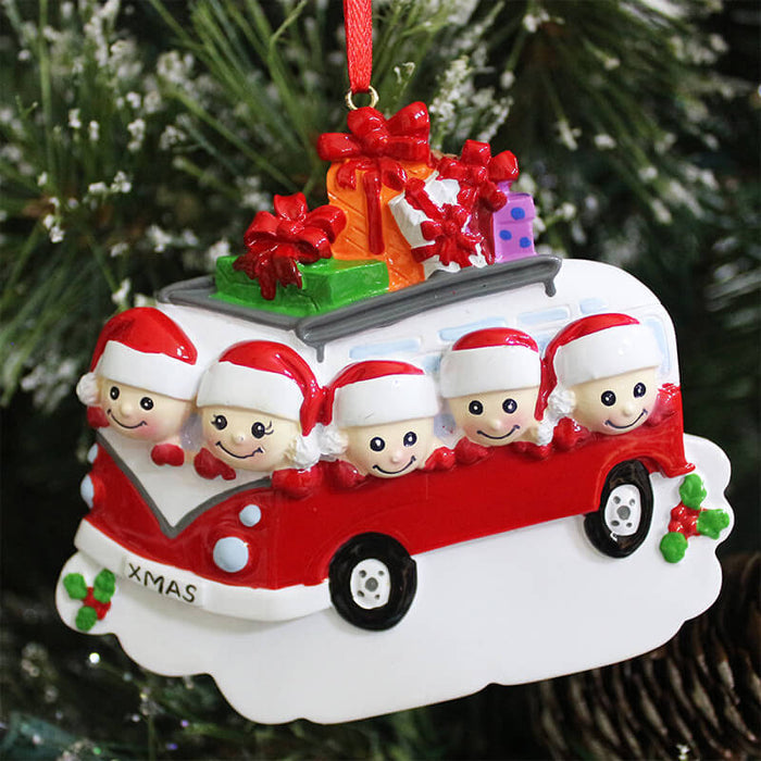 X'mas Car Of Family Christmas Ornament #61424