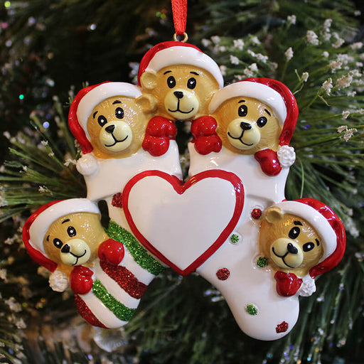 Brown Bear Of Family Christmas Ornament #61428