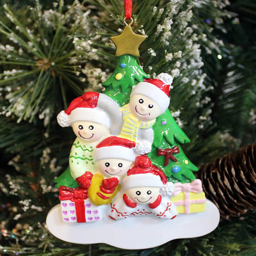 Christmas Tree and Gifts Of Family Christmas Ornament #61443