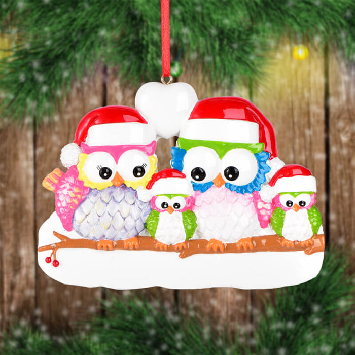 Owl Of Family Christmas Ornament #61535