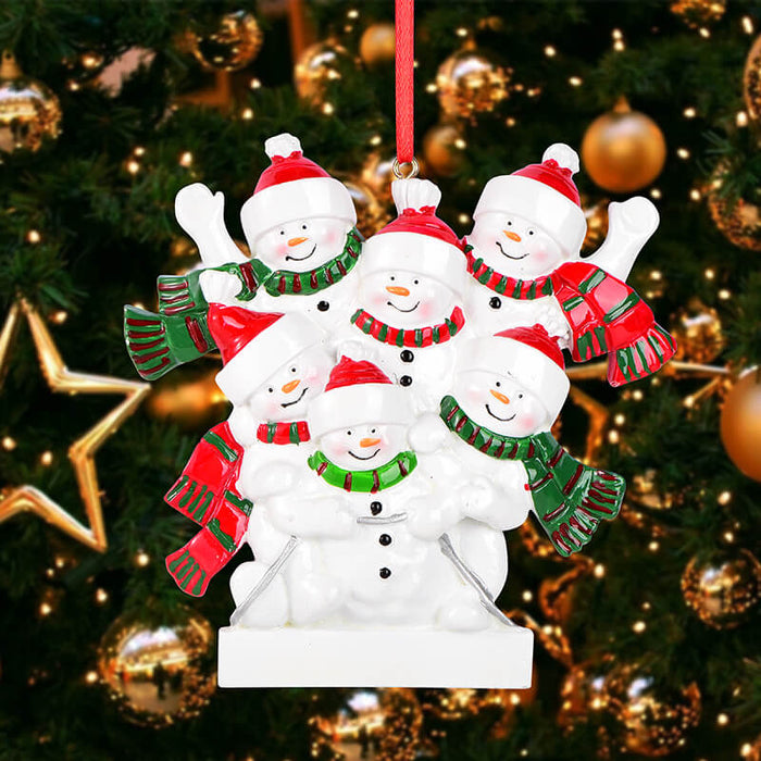 Snowman Of Personalized Family Christmas Ornament #61558