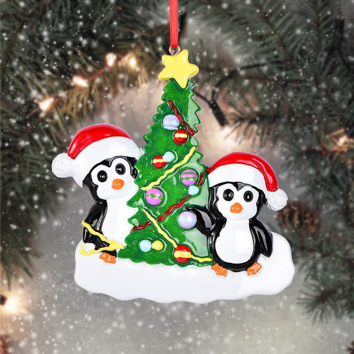 Penguin Of Family Christmas Ornaments#61570