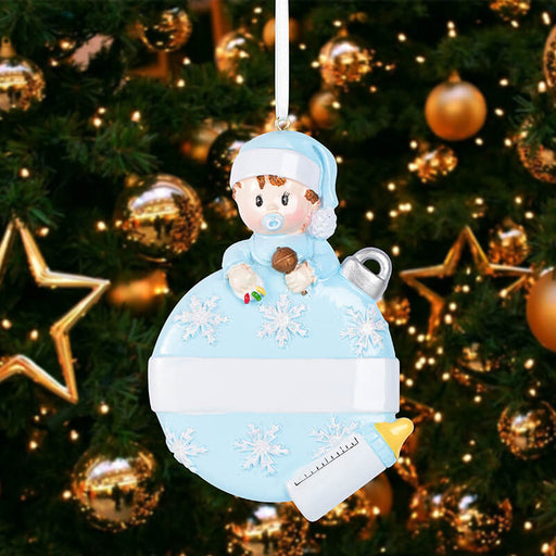 Baby with Xmas Ball Personalized Christmas Ornament #61576