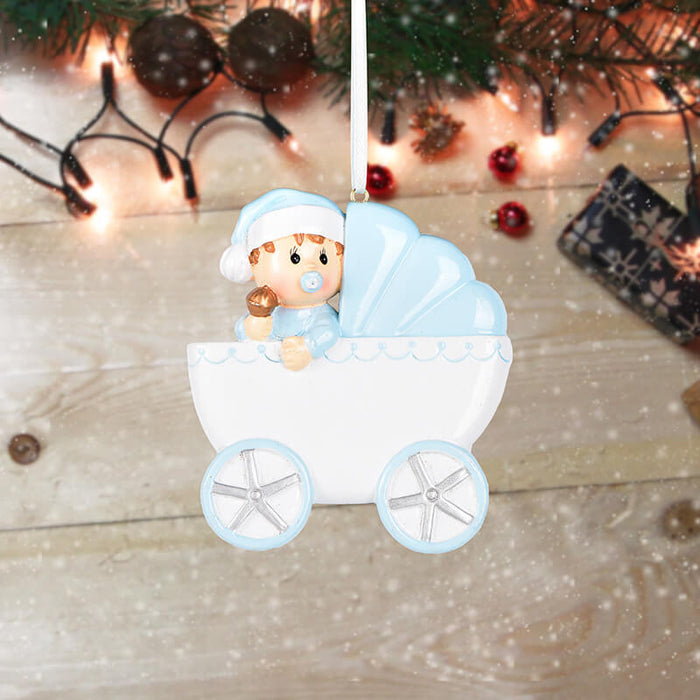 Baby with Baby Car Personalized Christmas Ornament #61577