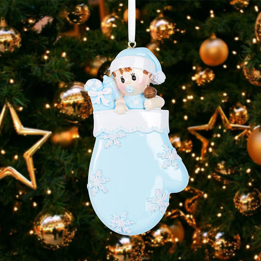 Baby with Mitten Personalized Christmas Ornament  #61578