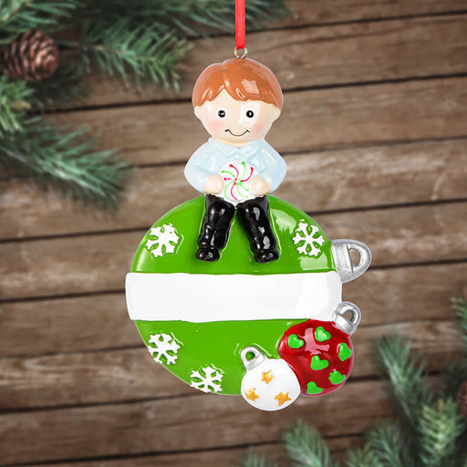 Baby Girl and Boy Of Single Christmas Ornament
