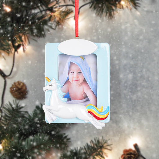 Personalized Christmas With Lucky Horse photo Frame #61582