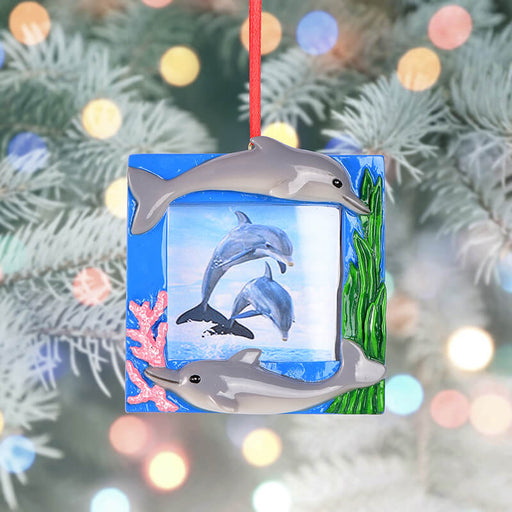 Personalized Christmas With  Dolphin photo Frame #61586