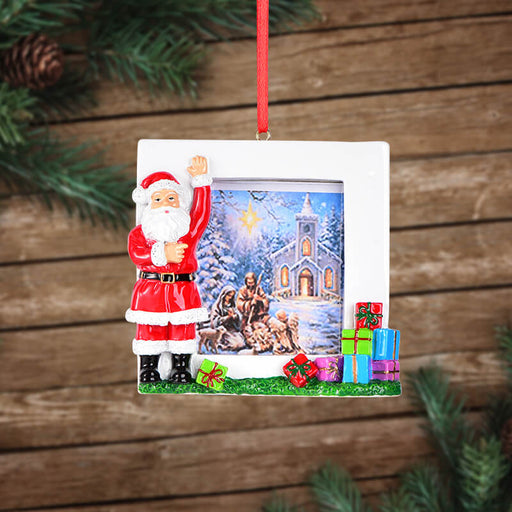 Personalized Christmas With Santa Clause photo Frame #61587