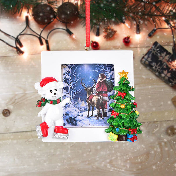 Personalized Christmas Polar bear photo Frame #61590