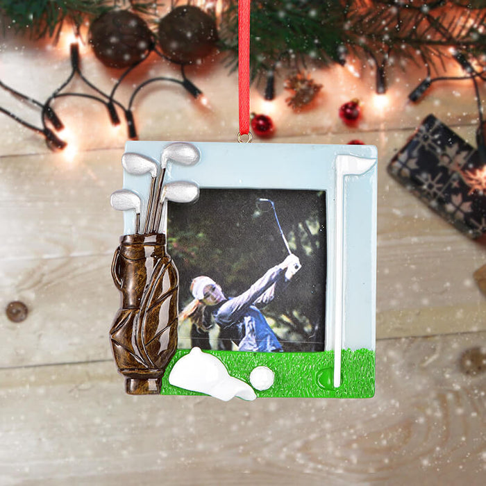 Personalized Christmas Golf photo Frame #61592