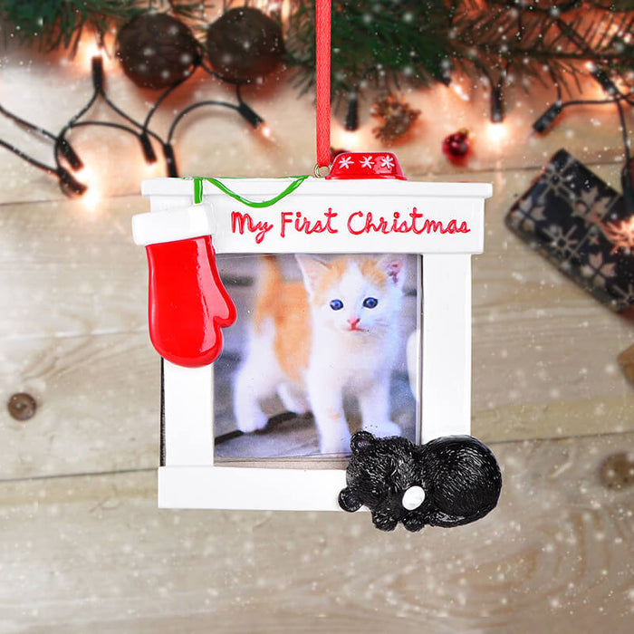Personalized Christmas Cat photo Frame #61593