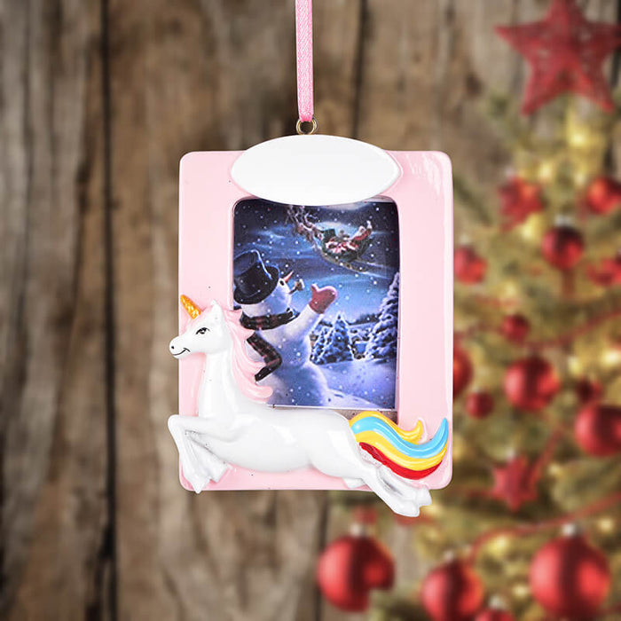 Personalized Christmas Lucky Horse  photo Frame #61595