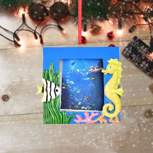 Personalized Christmas Seahorse photo Frame #61596