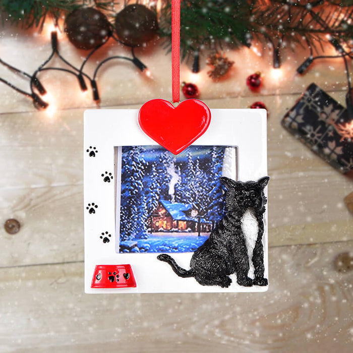 Personalized Christmas Cat photo Frame #61597
