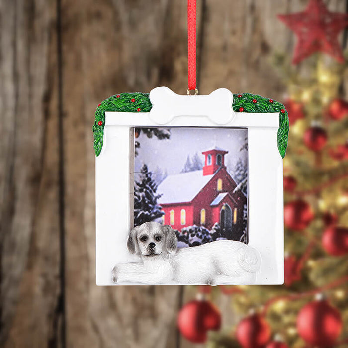Personalized Christmas Puppy photo Frame #61598