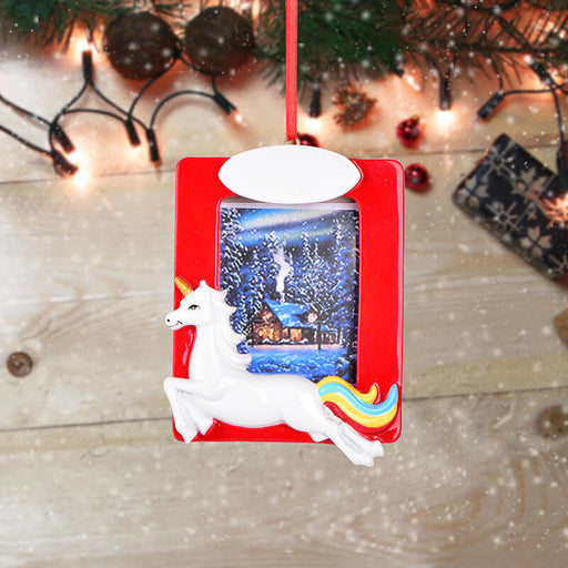 Personalized Christmas Lucky Horse photo Frame #61599