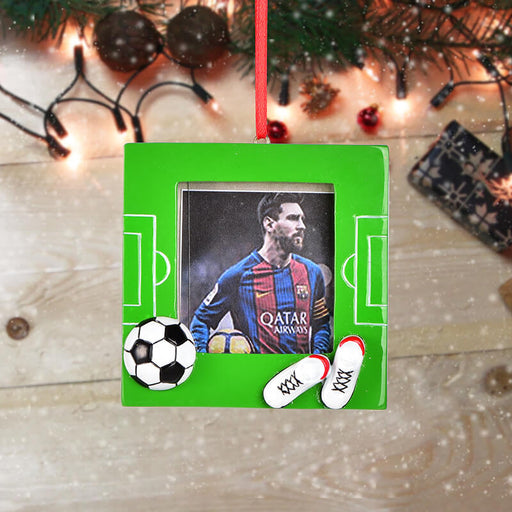 Personalized Christmas photo Frame With Soccer Ball and Player #61600