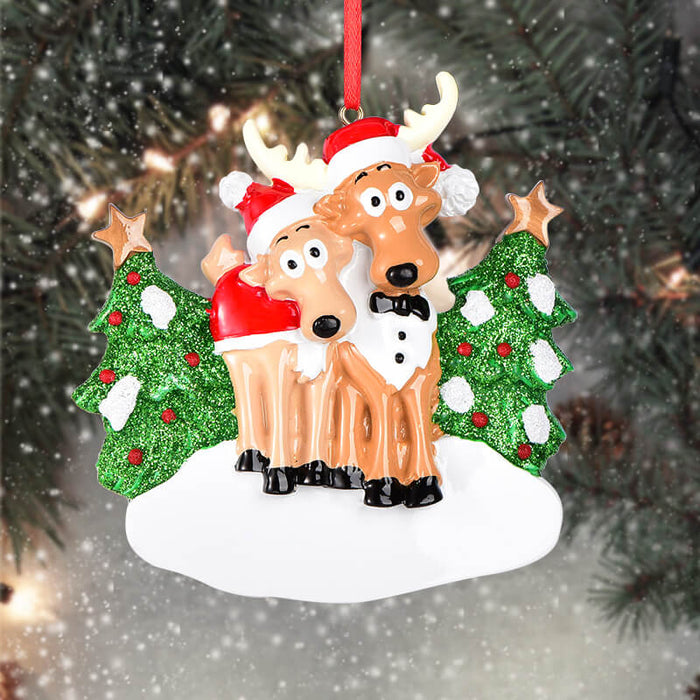 Reindeer Of Couple Christmas Ornament#61604