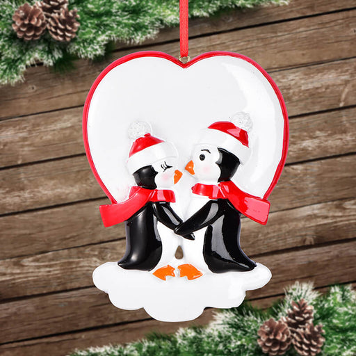Penguin Couple Christmas Ornament #61606