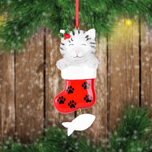 Cat  of Single  Christmas Ornament #61609