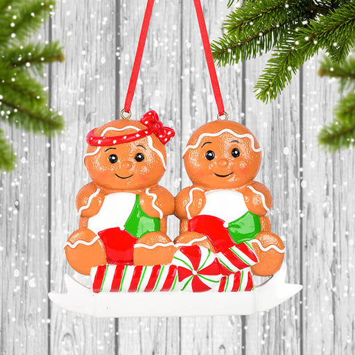 Gingerbread Man Of Couple Christmas Ornament #61617