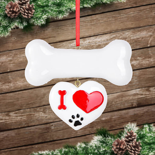 Personalized Love  bone of Christmas Ornament # 61622