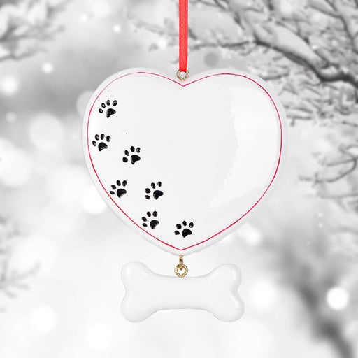 Personalized heart-shaped footprints Christmas  Ornament #61623