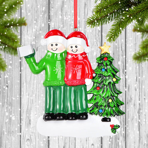 Selfie Couple Christmas Ornament #61624