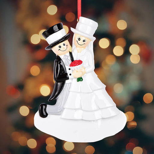 Wedding Of Couple Christmas Ornament#61627