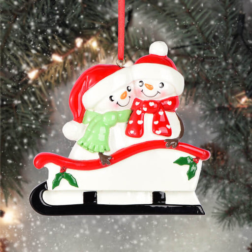 Sailboat Of Couple Christmas Ornament #61655