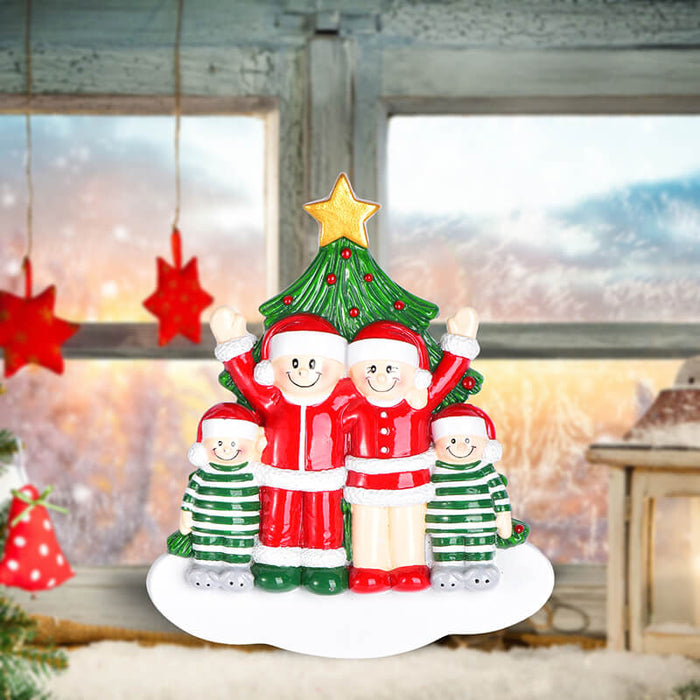 Christmas Tree  of Family Table Topper #62561-4