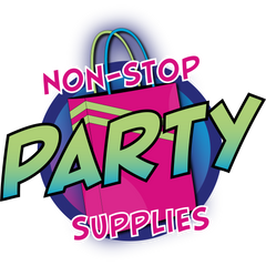 Non Stop Party Supplies Transparent logo used for product descriptions