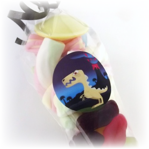 Dinosaur T-REX Themed Party Sweets & Sticker set