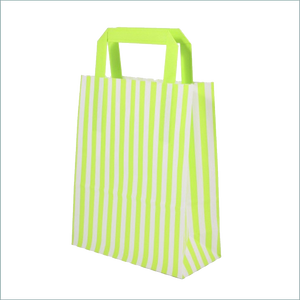 Green Strip Paper Bag used for parties