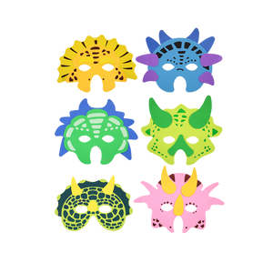 Dinosaur mask, foam mask, masks, kids mask, party masks, face wear & easy to wear.