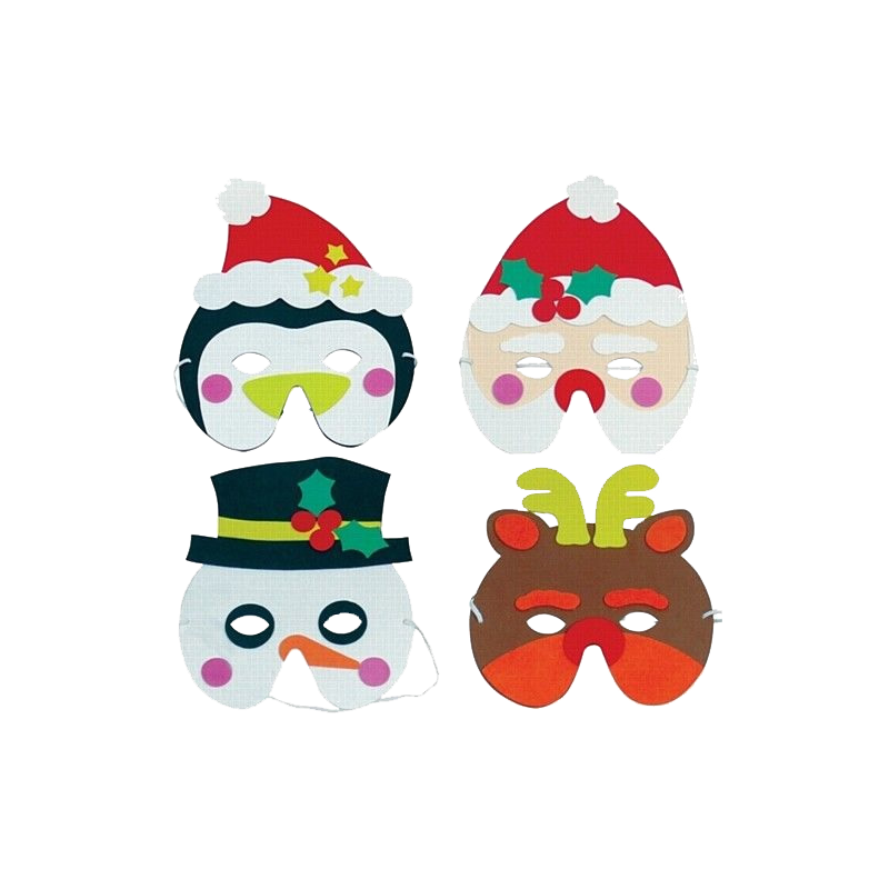 Christmas mask, foam mask, masks, kids mask, party masks, face wear & easy to wear.