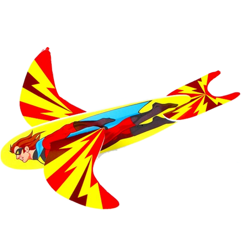Superhero glider, foam glider, glider, kids glider & party glider.