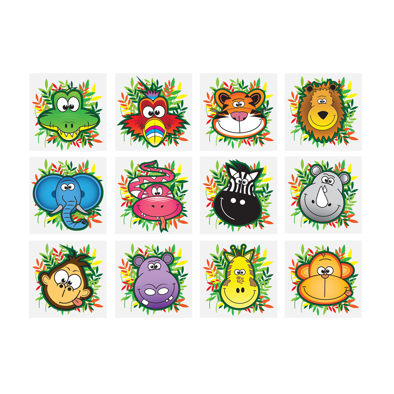 Jungle tattoos, temporary tattoo, jungle animals, tattoo, tattoos, kids tattoo & party tattoos.