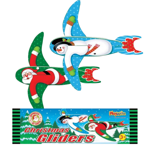 Christmas glider, foam glider, glider, kids glider & party glider.