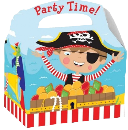 Pirate Themed Lunch Box Saying Party Time!