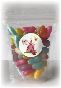 Jelly Bean pouch sweet bag with princess sticker