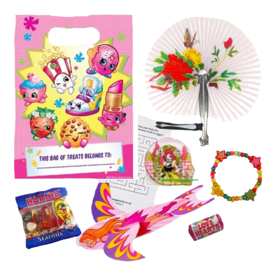 Shopkins Party Bag Supplies with prizes & sweets