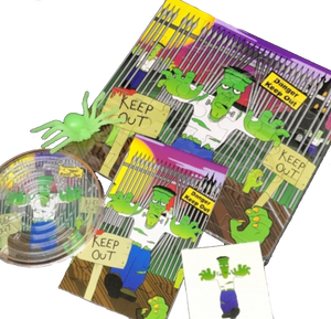 a halloween frankenstein pre filled party pack