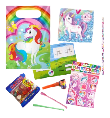 Unicorn Pre-Filled Party Bags With 7 Items